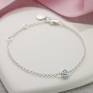 March Birthstone Bracelet - march birthstone