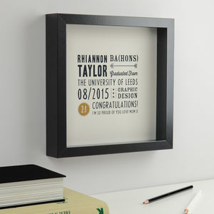 Personalised Graduation Print, Arrow And Star Design - typography
