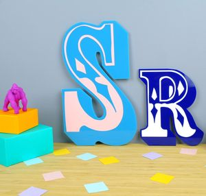 Childrens Personalised Circus Sign - neon brights living room