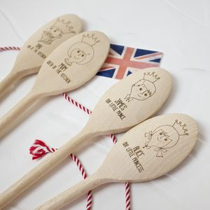 Special Edition Royal Family Personalised Wooden Spoon - aspiring chef