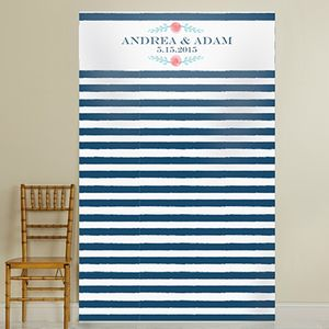 Personalised 'Botanical Stripe' Backdrop - room decorations