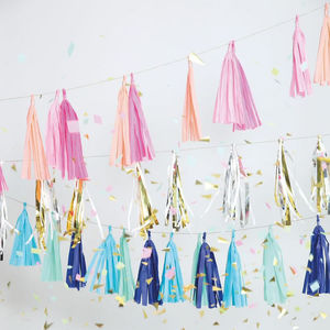 Beaded Party Tassel Garland Three Meters