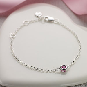 July Birthstone Bracelet - christening jewellery