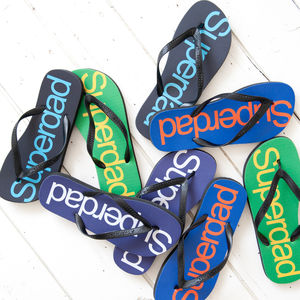 Super Dad Flip Flops - men's fashion