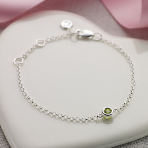August Birthstone Bracelet - august birthstone