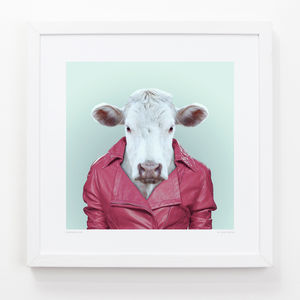 Cow Art Print - contemporary art