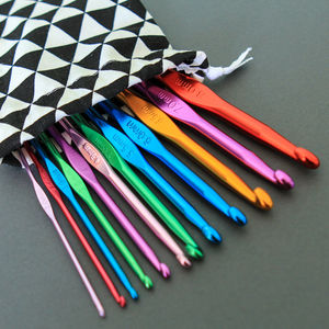 Full Set Of Coloured Crochet Hooks
