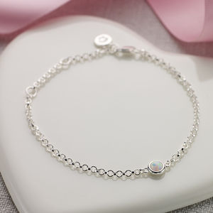 October Opal Birthstone Bracelet