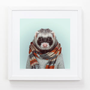 Ferret Art Print - contemporary art