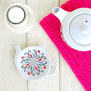 Geometric Tea Bag Holder - crockery & chinaware