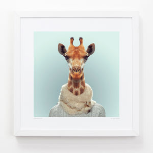 Giraffe Art Print - contemporary art