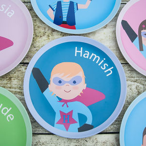 Personalised Superhero Plate - kitchen