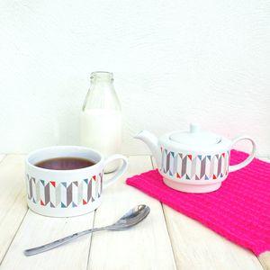 Geometric Retro Tea For One Set