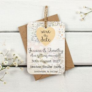 Floral Patchwork Save The Date - save the date cards