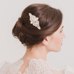 Crystal And Pearl Wedding Hair Comb - tiaras & hair combs