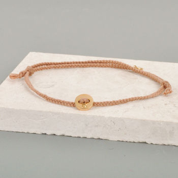 Gold Button And Thread Bracelet