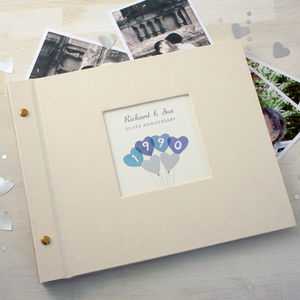Personalised Silver Wedding Anniversary Photo Album