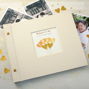 Personalised Golden Wedding Anniversary Photo Album - 50th anniversary: gold