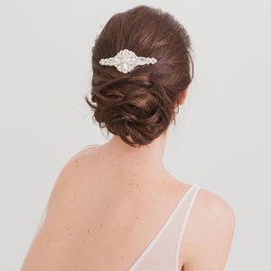 Silver Wedding Haircomb - bridal hairpieces