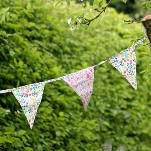 Vintage Floral Bunting - outdoor decorations