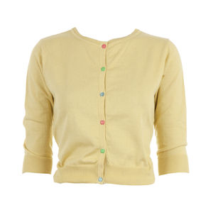 Women's Cardigan In Lemon Or Rose