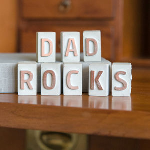 'Dad Rocks' Mini Concrete Letters - gifts for fathers
