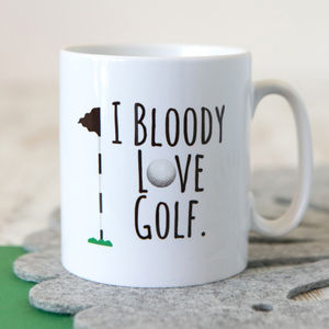'Bloody Love Golf' Mug - gifts under £15