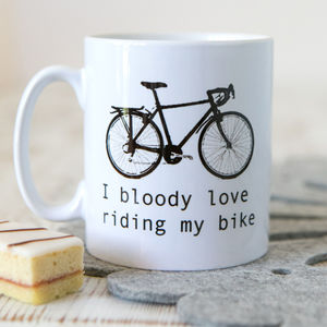 'I Bloody Love Riding My Bike' Mug - under £25