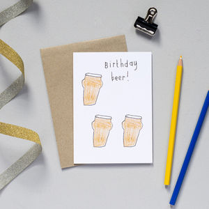 'Birthday Beer' Card