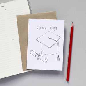 'Clever Clogs' Graduation Card