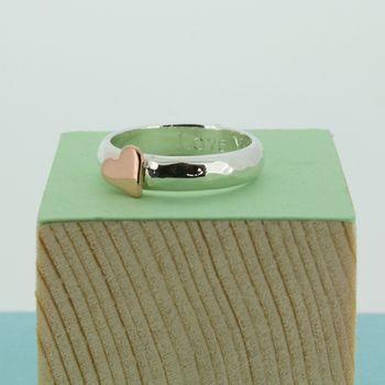 Portscatho Heart Personalised Ring