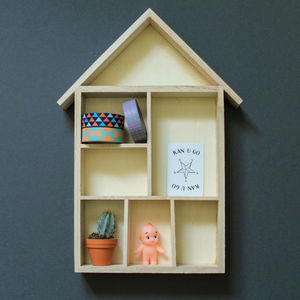 House Shaped Knick Knack Shelves Or Display Boxes - bedroom