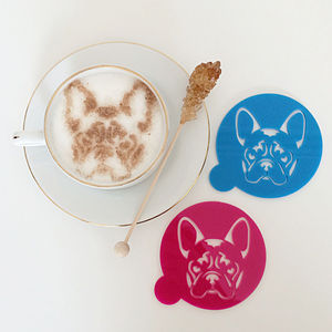 French Bulldog Coffee Stencil - baking
