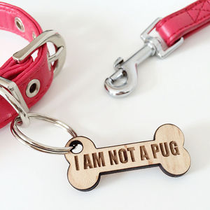 'I Am Not A Pug' Dog Tag - pet tags & charms