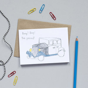 'Beep, Beep! You Passed' Card