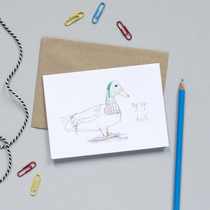 'Ey Up Duck' Card