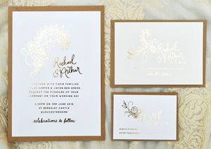 Flora Foil Wedding Invitation