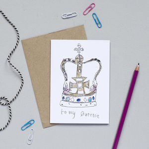 'To My Queenie' Card