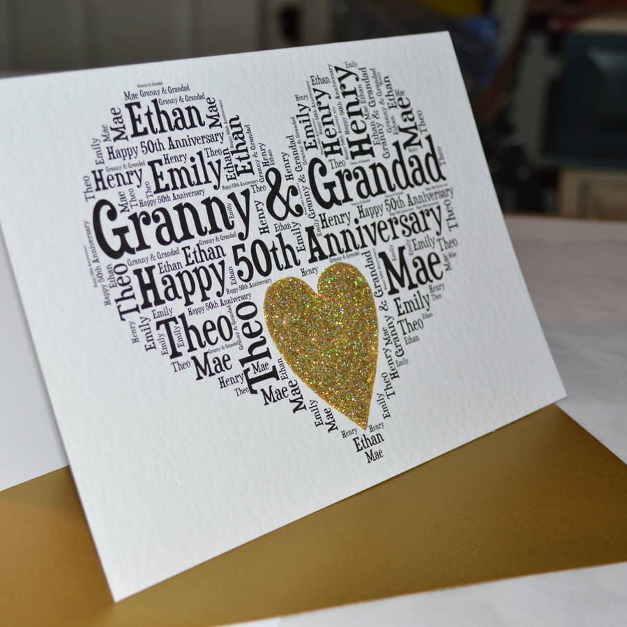 Incredible 50th Wedding Anniversary Cards Wedding Ideas