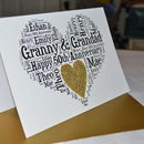Personalised 50th Wedding Anniversary Love Sparkle Card