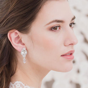 Drop Wedding Earrings
