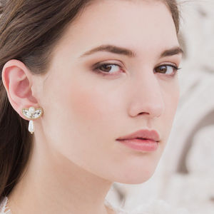 Drop Wedding Earrings In Silver Or Gold