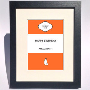 Personalised Stripe Print Gift - 60th birthday gifts