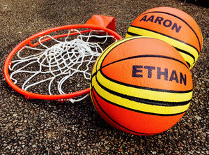 Personalised Basketball - outdoor toys & games