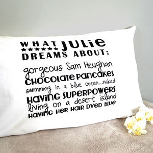 'Dreaming About' Pillowcase - bed, bath & table linen