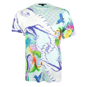 Unisex Blue Elephant Textured Printed T Shirt Tee