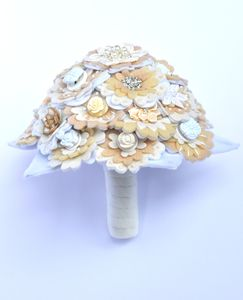 Felt And Button Bridal Bouquet - artificial flowers
