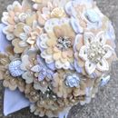 Felt And Button Bridal Bouquet