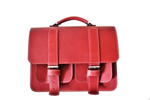 Cherry Leather Satchel Bag - laptop bags & cases