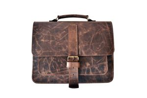 Leather Satchel Bag - laptop bags & cases